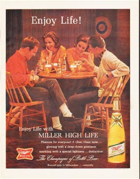 miller beer vintage ad enjoy life