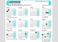 Calendario laboral 2019 de Extremadura días festivos y