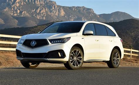 2019 Acura MDX White :  2019 Acura Mdx A-spec Review