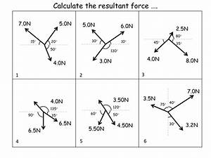 Calculating Resultant Forces: Worksheet + answers by ...