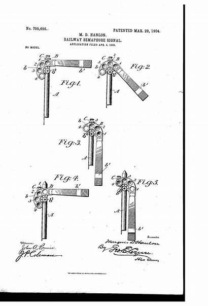 Semaphore Railway Patent Patents Signal Drawing