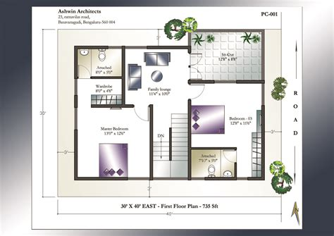 home plan com 30 x 40 house plan east facing house plan home plans india