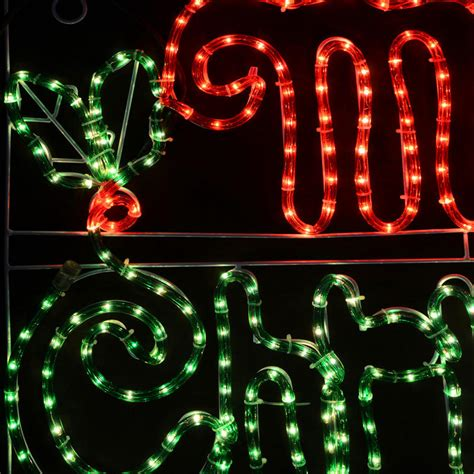 merry mains voltage festive rope light sign