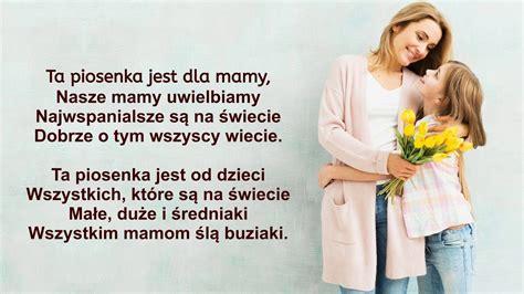 Piosenka z odcinka nasz własny spodek tekst: Ta piosenka jest dla Mamy - Hit na Dzień Mamy - YouTube