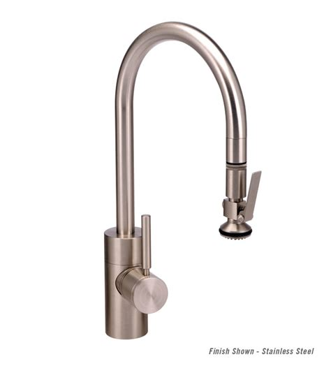 waterstone kitchen faucets waterstone contemporary plp pull kitchen faucet
