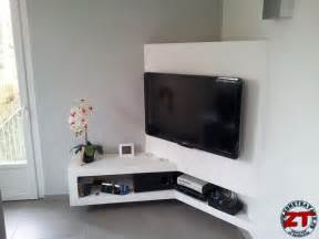 Meuble Tele En Placo tuto cr 233 ation d un meuble tv en placo