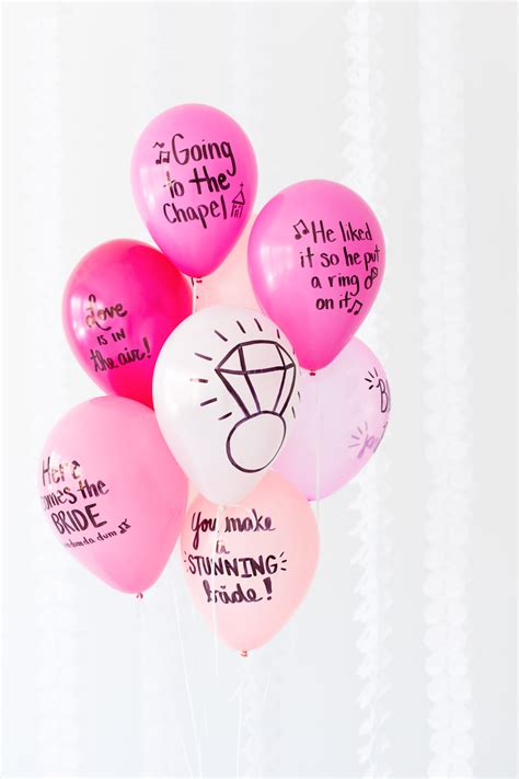 diy balloon wishes  bride   bridal shower