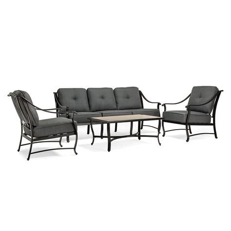la z boy emerson 4 pc seating set graphite outdoor