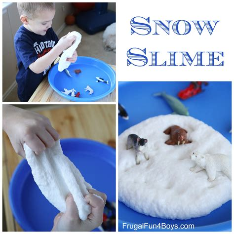 winter and craft ideas how to make snow slime 7327