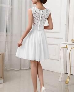 New Fashion Cute White Chiffon Women Summer Dress 2017 ...