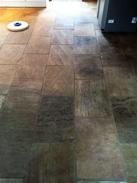 indian fossil sandstone kitchen floor restored in hessle