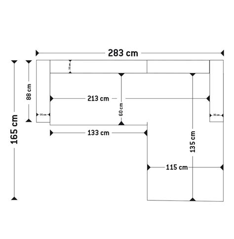 dimensions canapé canapé d 39 angle kanap en tissu noir canapé design