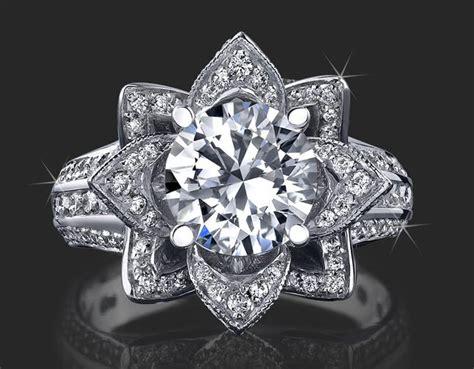 beautyful of ring engagement ring flower designer best