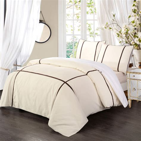 And White Duvet Cover Sets by Brown And White Duvet Cover Sweetgalas
