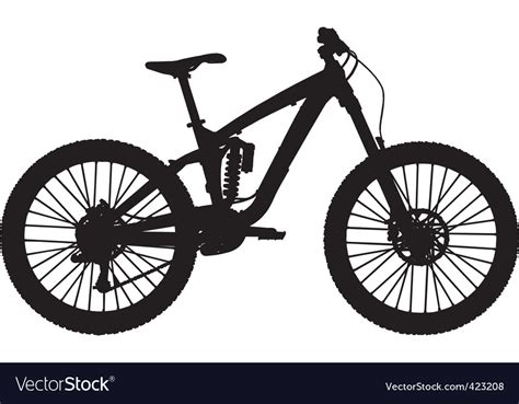 Downhill Mountain Bike Royalty Free Vector Image