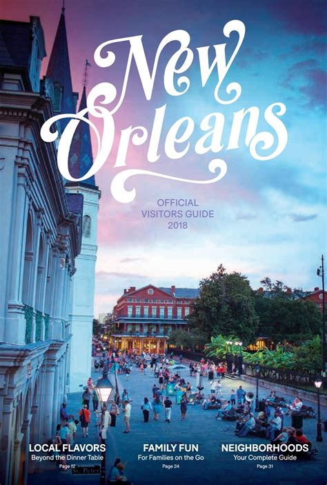 new orleans official visitors guide 2018 by new orleans