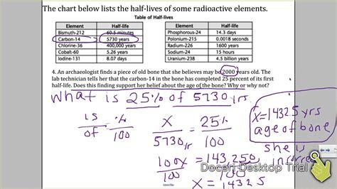 radiometric dating absolute dating explaination worksheet