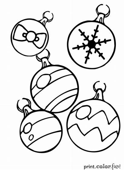 Coloring Christmas Pages Ornaments Decorations Ornament Printables