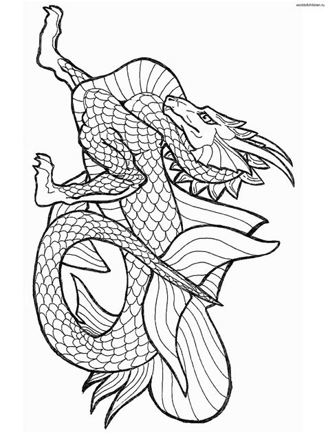 Water Dragon Coloring Pages