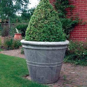 Giant Stone Flower Plant Pot Vase - Large Garden Planter ...