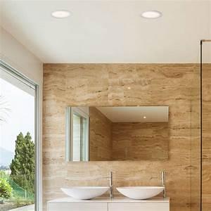 Spot Led Salle De Bain : spot encastrable tod led blanc 3000k 22cm salle de bain faro ~ Edinachiropracticcenter.com Idées de Décoration