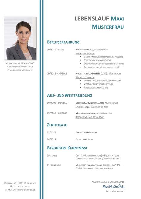 Tabellarischer Lebenslauf Vorlage Word by Lebenslauf Muster Design Kostenlos Design Bild