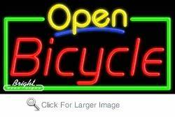 Bicycle Open Neon Sign only $382 99 Business Neon Open Signs