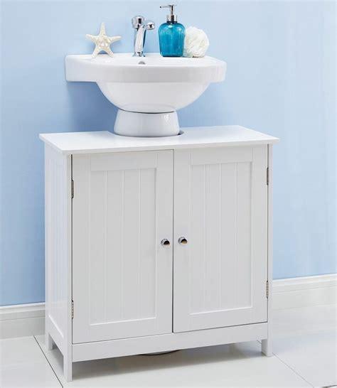 white  sink bathroom cabinet undersink storage