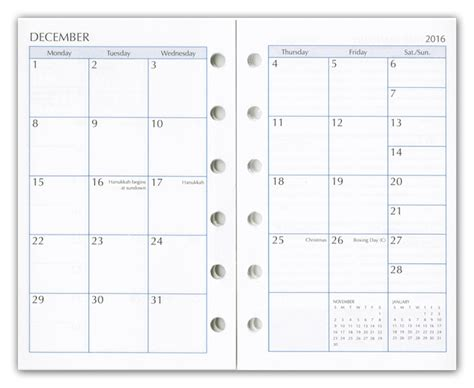 day planner refills weekly planner refill inserts