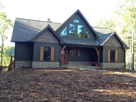 image result for cabin exterior brown green saranac