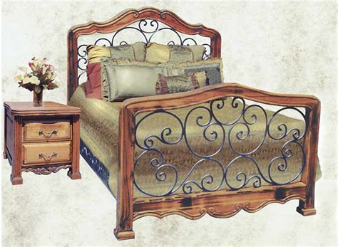 wood and wrought iron bedroom furniture king bed bed custom bedroom furniture wrought