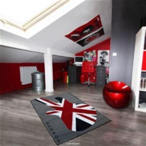 chambre ado gar輟n pas cher tapis deco anglaise drapeau union pour prot ger le sol tapis