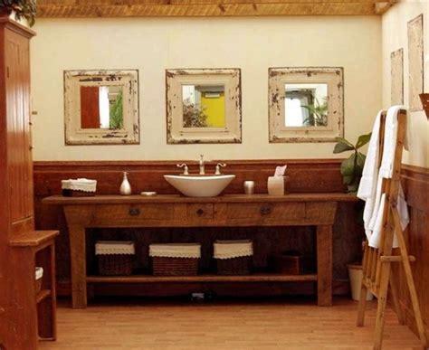 ideen fuer rustikale badezimmer aus holz und naturstein
