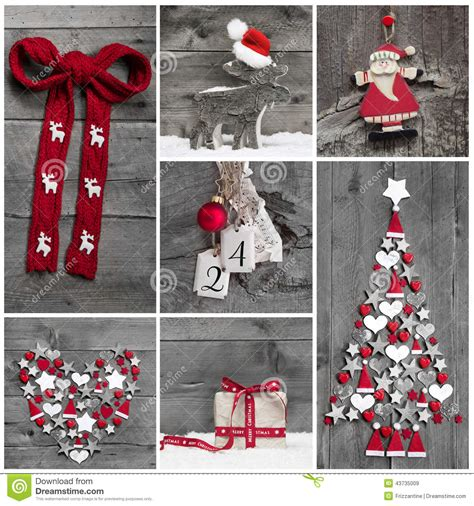 collage   red white  grey christmas