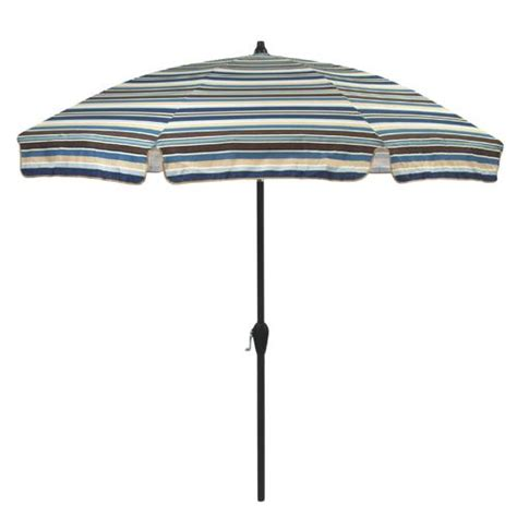 patio umbrellas sale menards backyard creations 7 5 easton stripe umbrella at menards 174