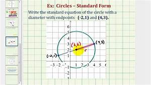 Ex 1  Find Standard Equation Of A Circle Given The