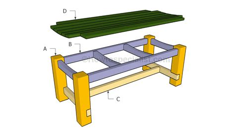 deck bench plans free howtospecialist how to build a patio bench howtospecialist how to
