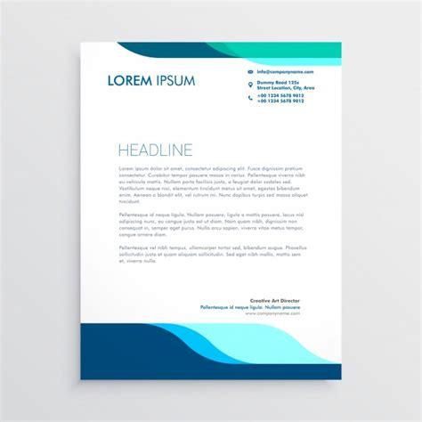 modern letterhead design  clean blue shapes vector