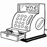 Cash Register Caixa Colorir Registadora Drawing Coloring Cashregister Money Desenhos Desenho Drawings Imprimir Timtim Computers Bw Sketch Template sketch template