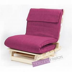 Futon 1 Place : rose simple 1 place lin complet futon bois base plier mattress canap lit ebay ~ Teatrodelosmanantiales.com Idées de Décoration