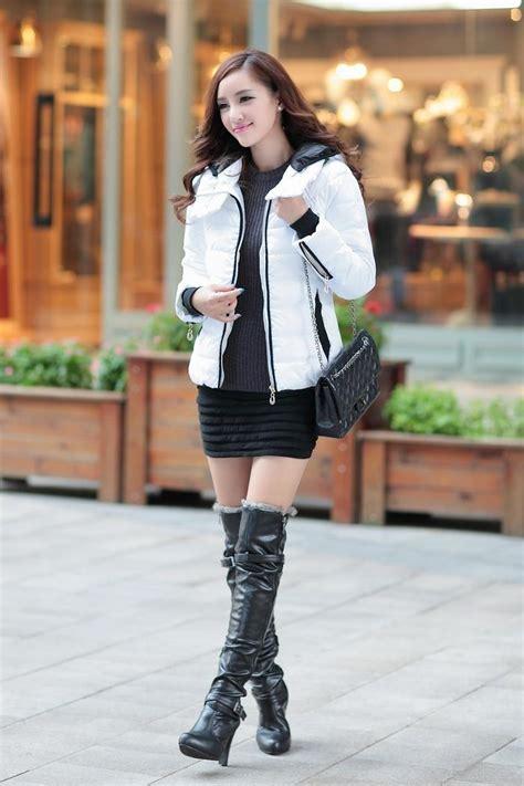 f30801white jaket korea white padded jacket baju winter coat korea