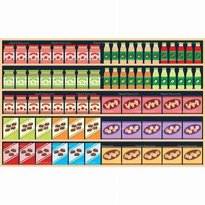 Shelves Supermarket Clipart Grocery Clip Clipground Cliparts