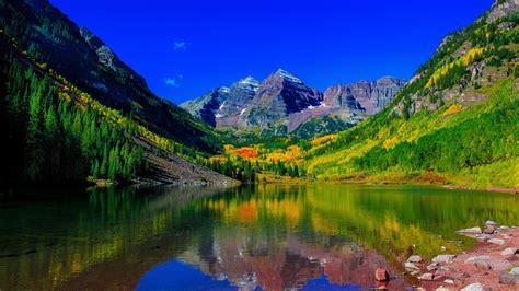 wallpaper maroon bells peaks elk mountains colorado