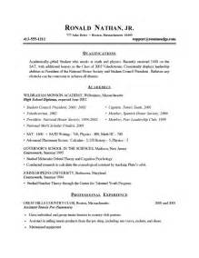 cv for high school students sle 17 best ideas about high school resume template on resume exles student