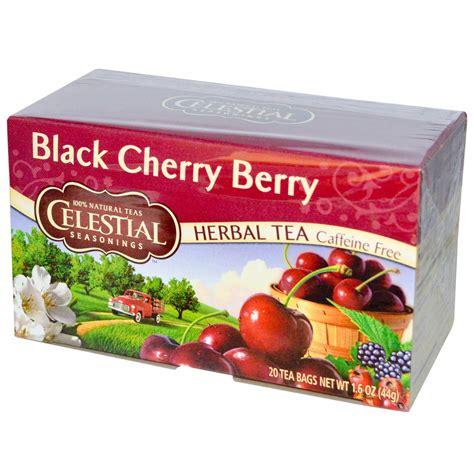 celestial seasonings herbal tea black cherry berry caffeine   tea bags  oz