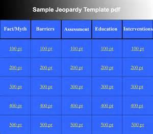 Free Jeopardy PowerPoint Template