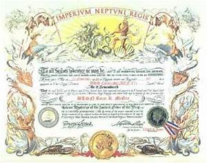 26 best images about shellback on pinterest coins king With crossing the line certificate template
