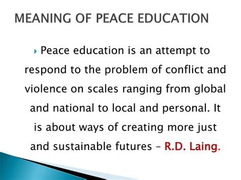 meaning  peace education powerpoint