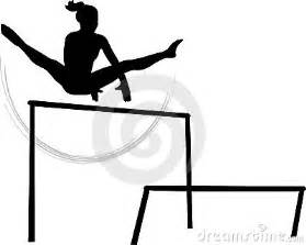 Gymnastics Uneven Bars Silhouette Clip Art