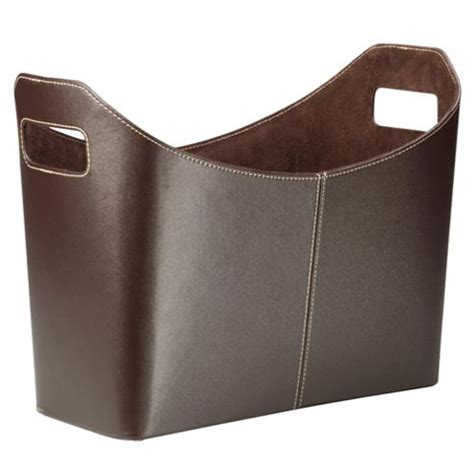 Buy Tesco Leather Effect Magazine Rack, Brown From Our